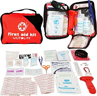 Travel First Aid Kit - Complete with Car Escape Tool and Survival Items
