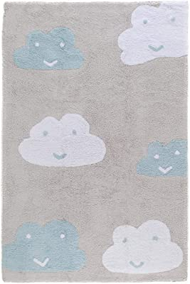 benuta Tapis Coton, Bleu, 150X225 cm