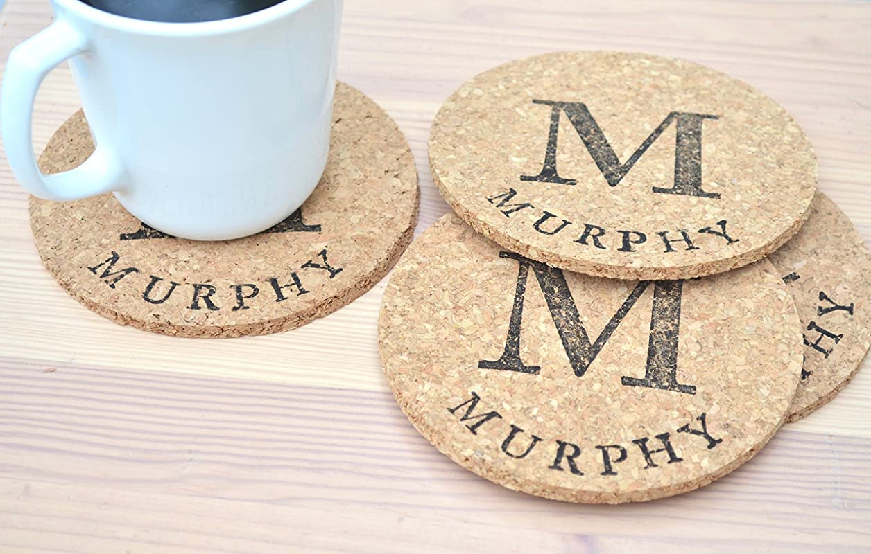 4 5 Personalized Round Coasters Set Of 8