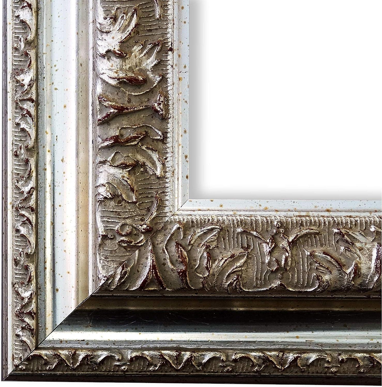 Online Galerie BinGold Bilderrahmen Rom Silber 6,5 - WRU - DIN A2 (42,0 x 59,4 cm) - whlen Sie aus über 500 Varianten - alle Gren - Landhaus, Antik, Barock - Fotorahmen Urkundenrahmen Posterrahmen