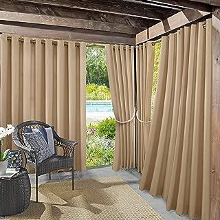 Sun Zero Beacon Woven Indoor/Outdoor UV Protectant Grommet Curtain Panel, 52