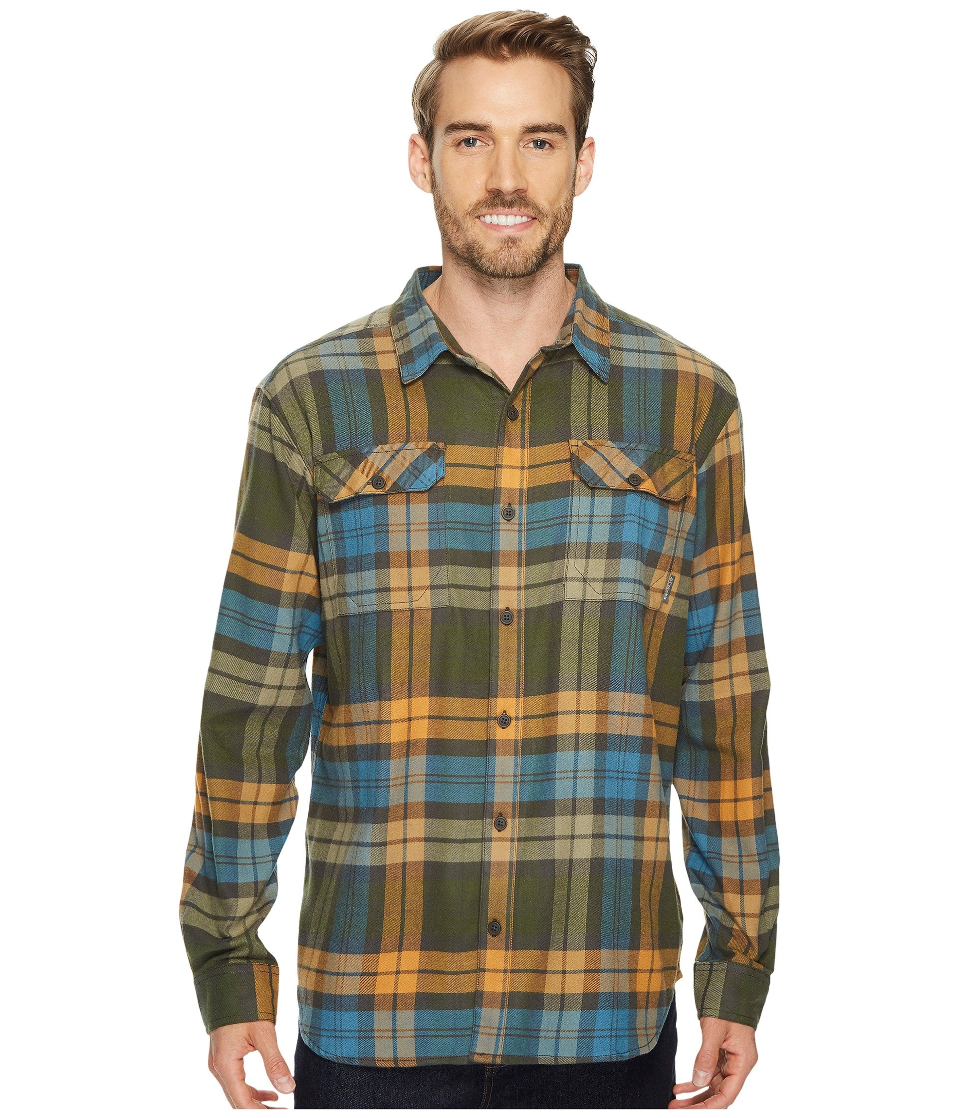 ec53da7b80d COLUMBIA Flare Gun™ Flannel Iii Long-Sleeve Shirt, Canyon Gold Blanket Plaid