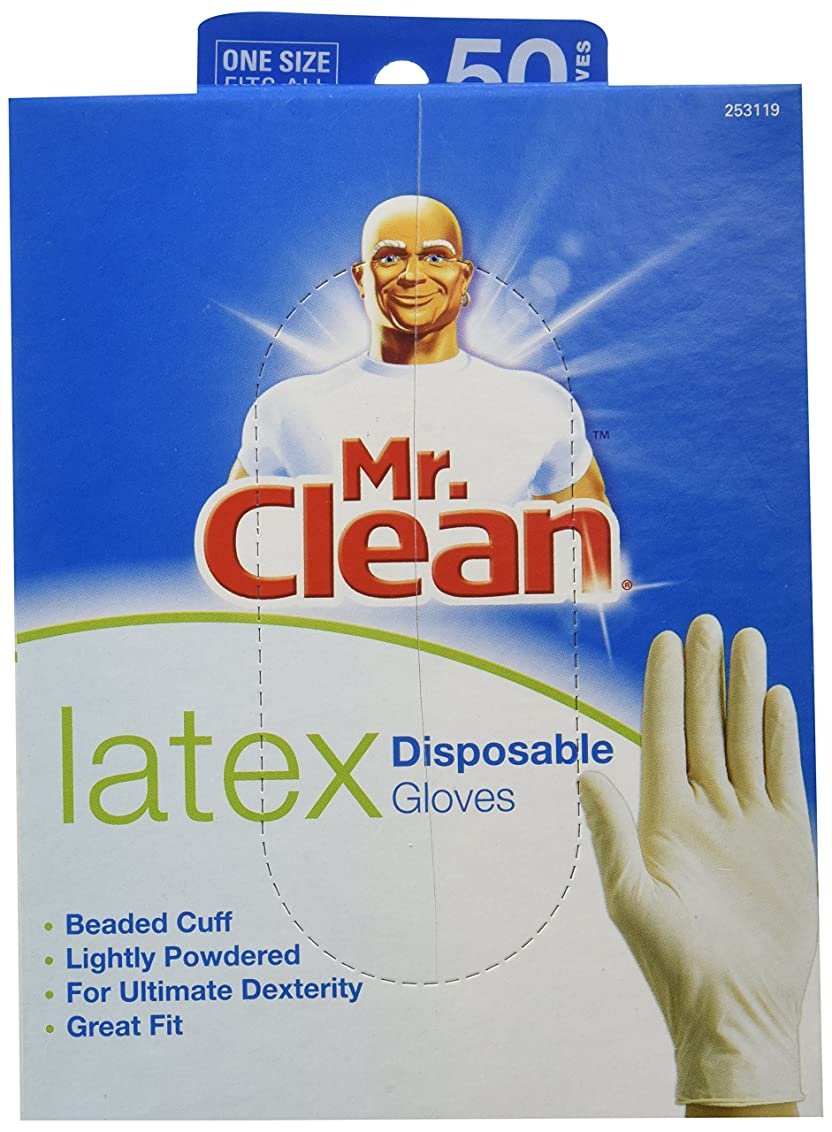 アーク休日にについてMR. CLEAN LATEX Disposable Cleaning Gloves for ULTIMATE DEXTERITY (50 Count) by Butler Home Products LLC