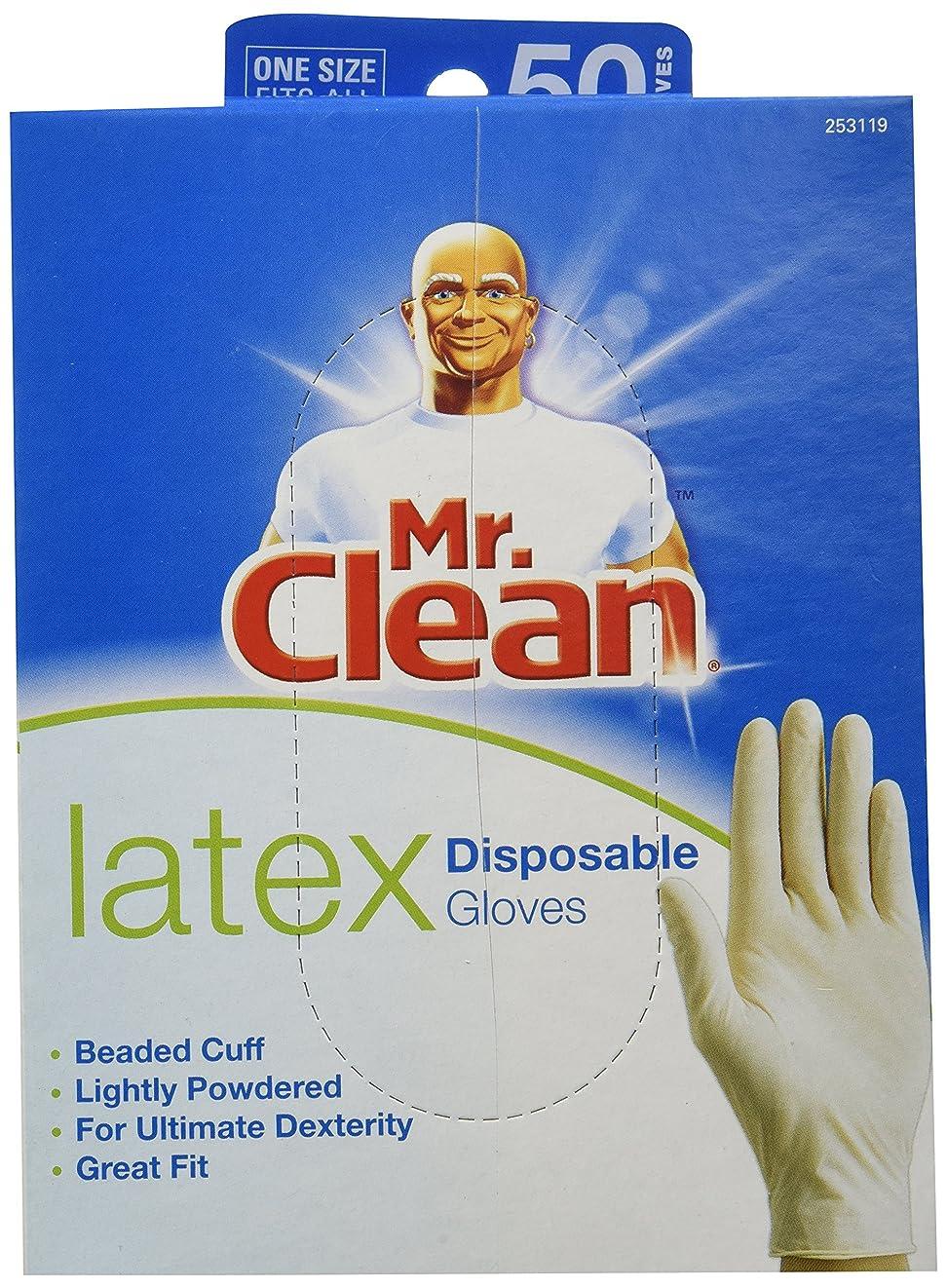 ブッシュ判読できない契約したMR. CLEAN LATEX Disposable Cleaning Gloves for ULTIMATE DEXTERITY (50 Count) by Butler Home Products LLC