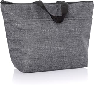 Thirty One Thermal Tote in Charcoal Crosshatch - No Monogram - 3000