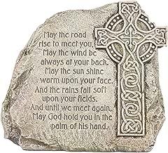 Roman Celtic Cross Garden Stone - Irish Blessing