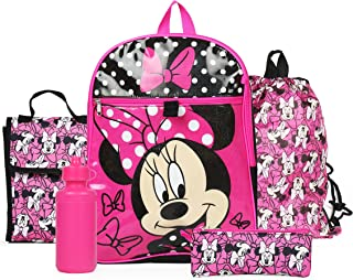 0693e0e30597 Ralme Disney Minnie Mouse Pink Backpack Back to School 5 Piece Essentials  Set