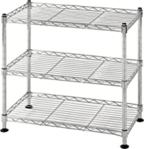 Muscle Rack WS181018-C Steel Adjustable Wire Shelving, 3 Shelves, Chrome, 18