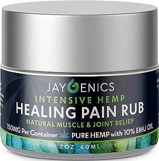 JAYGENICS Hemp Oil Healing Pain RUB - Pure Organic Hemp Relief Pain Cream 2.0 oz