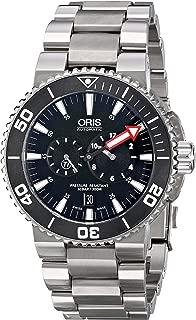 Oris Men's 74976777154MB Aquis Titanium Automatic Watch with Link Bracelet