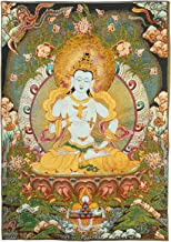 Prime Feng Shui Silk Embroidery Tibetan Vajrasattva Thangka Wall Hanging for Home Décor Thangka Meditation