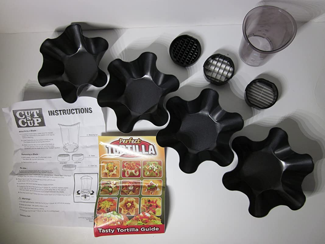 Perfect Tortilla Deluxe Kit 4 Molds And The Cut N Cup