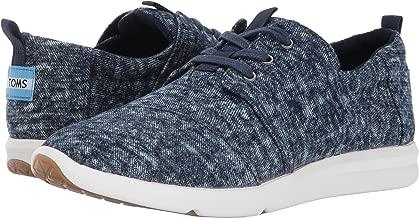 TOMS Womens Del Rey Sneaker Navy Washed Denim 5 B US