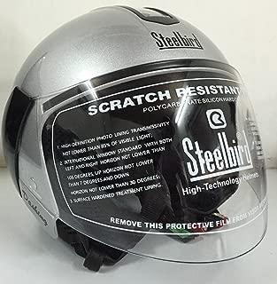 Steelbird SB-33 Eve Dashing Open Face Helmet (Silver, L)