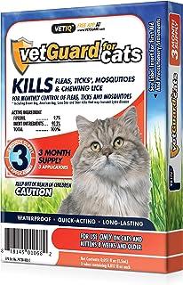 VetGuard Plus Flea & Tick Treatment for Cats, 3 Month Supply