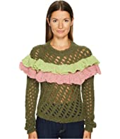 Boutique Moschino - Green Ruffle Sweater
