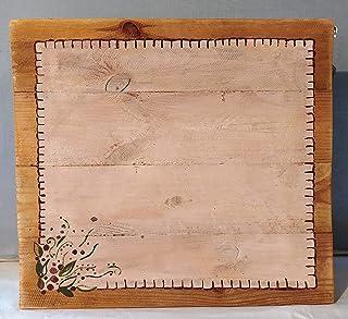 Bandeja de madera decorada