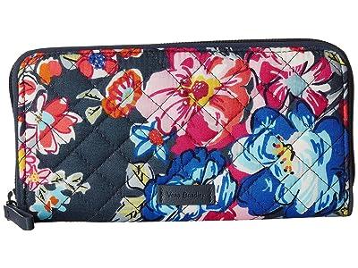Vera Bradley Iconic RFID Georgia Wallet (Pretty Posies) Wallet Handbags
