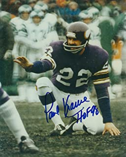 paul krause autograph