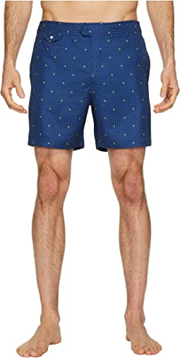 Polka Dot Lemon Fixed Volley Stretch Swim Shorts