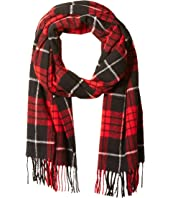 Scotch & Soda - Classic Scarf in Brushed Quality with Check Pattern