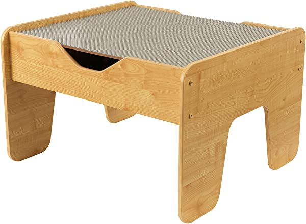 KidKraft 2 In 1 Activity Table With Board Gray Natural