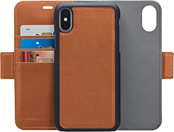 AmazonBasics iPhone X PU Leather Wallet Detachable Case
