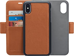 AmazonBasics iPhone X PU Leather Wallet Detachable Case