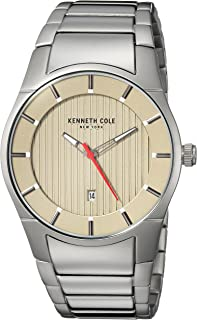 Kenneth Cole Men's Silver Dial Stainless Steel Band Watch - KC15103011