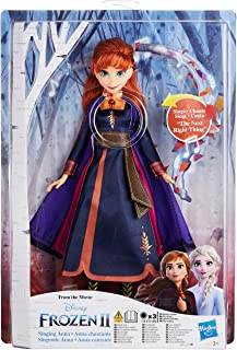 Disney Frozen Singing Anna Fashion Doll with Music Wearing a Purple Dress Inspired by Disney Frozen 2, Toy For Kids 3 Year...