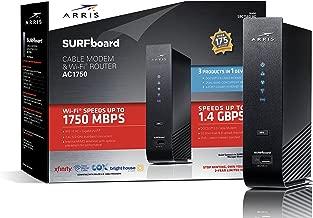 ARRIS Surfboard SBG7580AC 32x8 DOCSIS 3.0 Cable Modem / AC1750 Wi-Fi Router- Black