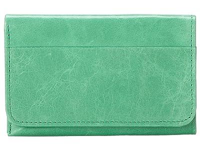 Hobo Jill Trifold Wallet (Mint Vintage Leather) Clutch Handbags