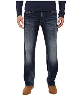 Driven Relaxed Straight Leg Jeans in Contrast Vintage