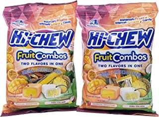 Hi-Chew Fruit Combo Snack Pack with Two 3.5-oz Packs including Tropical Smoothie & Pina Colada