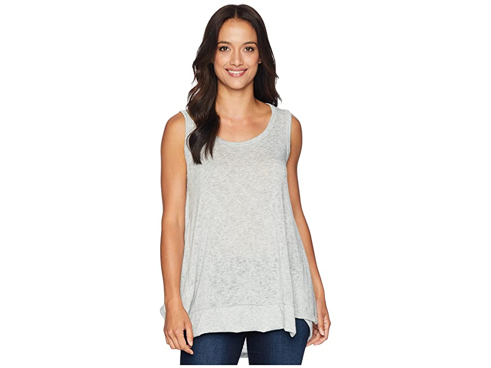 Nally & Millie High-Low Tank with Back Panel (Heather Grey) Women