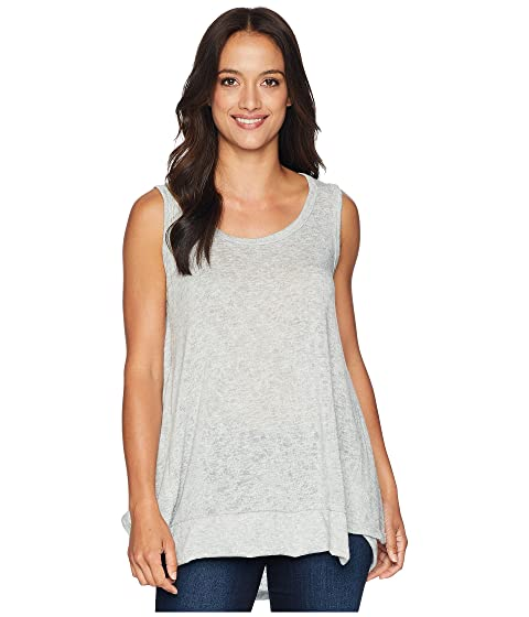 NALLY & MILLIE High-Low Tank With Back Panel, Heather Grey