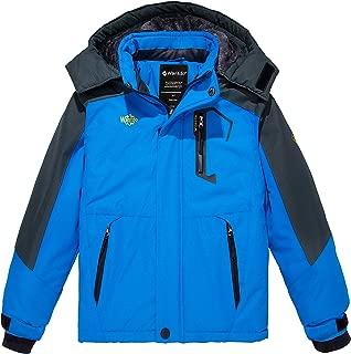 Wantdo Boy's Hooded Ski Fleece Jacket Waterproof Raincoats Outwear