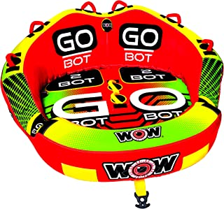 WOW Watersports Go Bot Towable, Front and Back Tow Points, Towable Water Tube - Two Rides in One