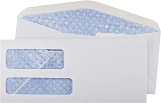AmazonBasics #9 Double Window Security Tinted Envelopes, White, 500 ct