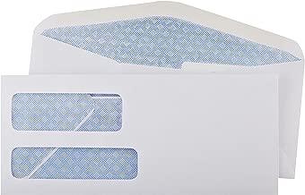 AmazonBasics #9 Double Window Security Tinted Envelopes, White, 500 ct