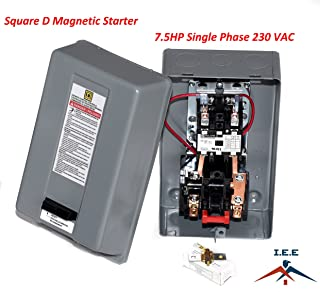 MAGNETIC MOTOR STARTER CONTROL FOR ELECTRIC MOTOR 10 HP 38AMP 3-PHASE 208-240VAC