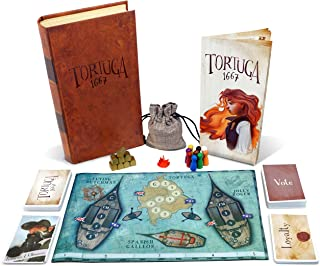 Tortuga 1667 Board Game - Treasure Plunder Game for Friends and Family - A Game of Cards, Strategy, Deceit, and Luck for 2-9 Players