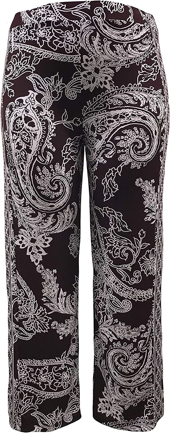 LEEBE Women and Plus Size Pull On ITY Knit Straight Wide Leg Pant (Small-5X)