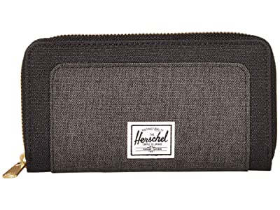 Herschel Supply Co. Thomas RFID Wallet (Black/Black Crosshatch) Wallet Handbags