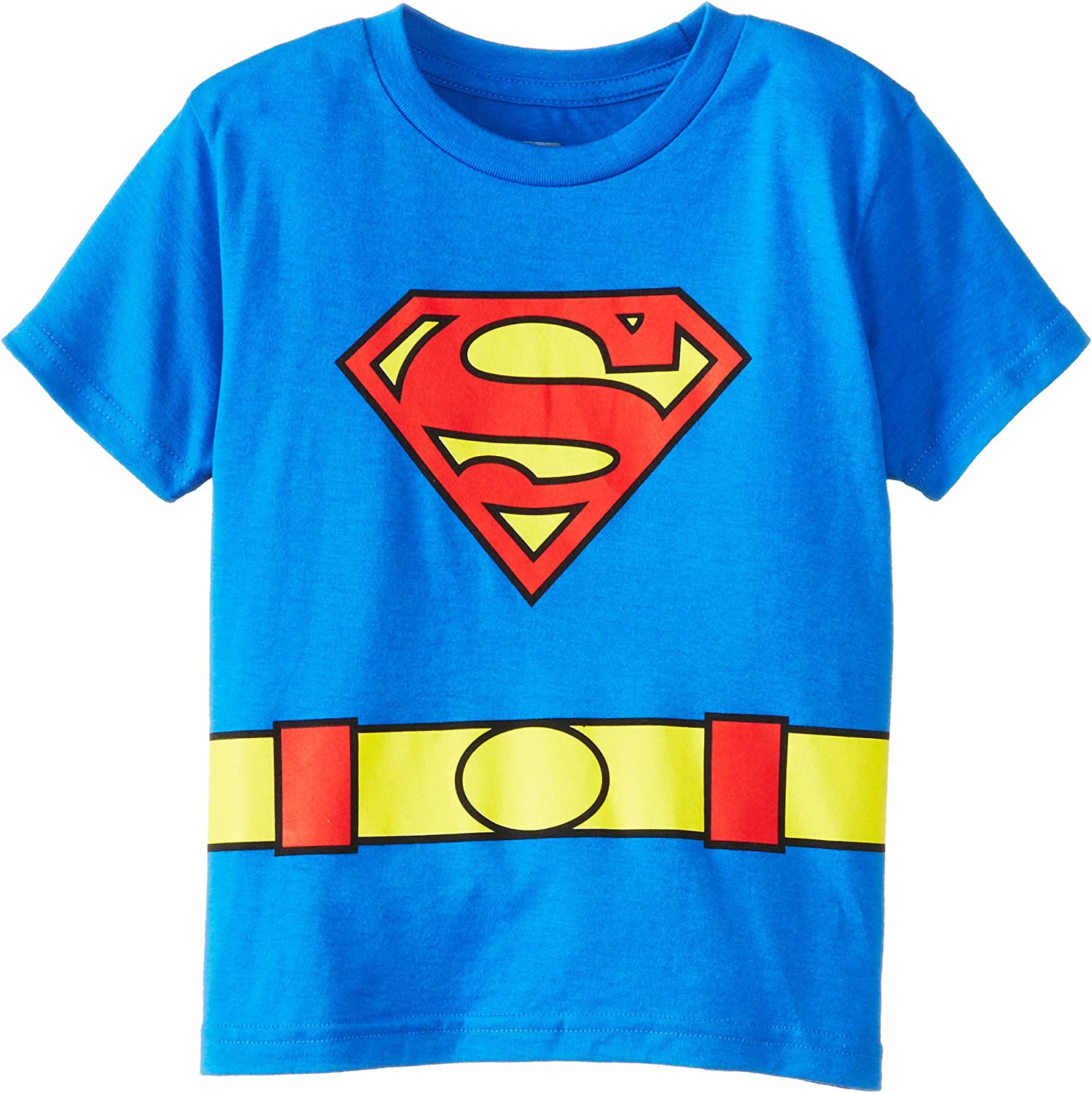 Kids Toddler Boys Superman Logo Pattern Shirt Cartoon Cotton Short Sleeve Tops