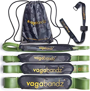 (Single bands) OR (Set of 4) Padded Resistance Bands OR (Door/Tree Anchor Strap) Pull up Bands with Handles/Padding for Ankles, behind Neck, Back, Chest. Latex Exercise Bands Fitness Outdoor Workout