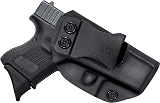Spheresun Glock Holster, IWB KYDEX Holster Custom Fit: Glock 17 19 19X 22 26 27 33 43 43X (Gen 1-5)/S&W M&P Shield 2.0-9MM/.40 S&W Inside Waistband Concealed Carry Holster Adjustable Cant & Retention