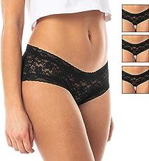 Satini Lace Underwear Bikini Seamless Panty Knickers