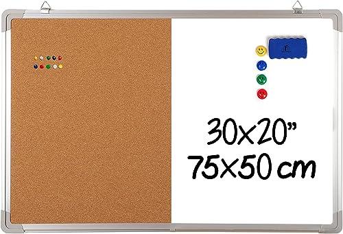 Bi-Office Maya Gridded cornice in alluminio a doppia faccia cancellabile a secco 180/x 120/cm 60x45cm
