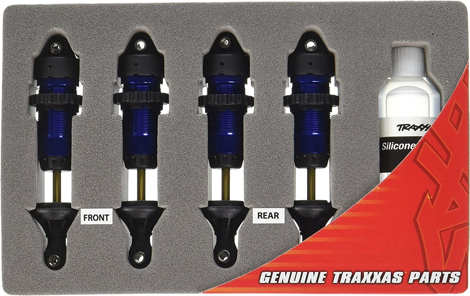 Traxxas 5460A Aluminum GTR Shocks, blueeAnodized, 4Piece